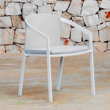 Scaun exterior din aluminiu cu sau fără pernă, de înaltă calitate, 4 buc. - Filomena