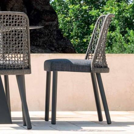 Varaschin scaun Emma în exterior în design de țesături și aluminiu
