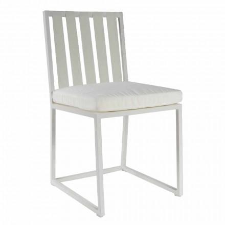 Scaun de luat masa în aer liber din aluminiu și design de lux Rope 3 finisaje - Julie