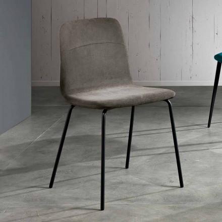 Scaun din țesătură și metal pentru sufragerie fabricat în Italia, Egizia