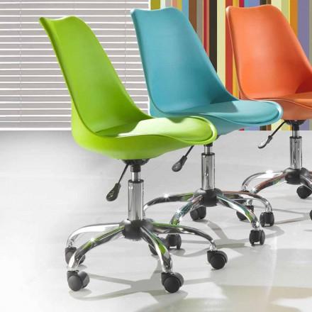 Scaun de birou din polipropilenă și metal colorat - Loredana