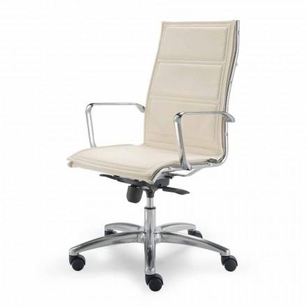 Scaun de birou cu monococ din imitație de piele fabricat în Italia Agata