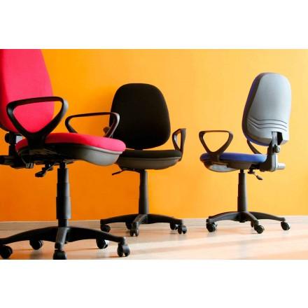 Scaun rotativ ergonomic de birou cu cotiere în țesut - Concetta