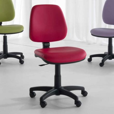 Scaun rotativ și ergonomic de birou din țesut și piele ecologică - Danila