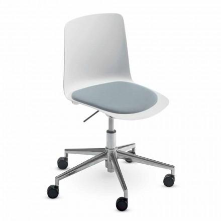 Scaun de birou din aluminiu și polipropilenă Fabricat în Italia, 2 piese - Charita