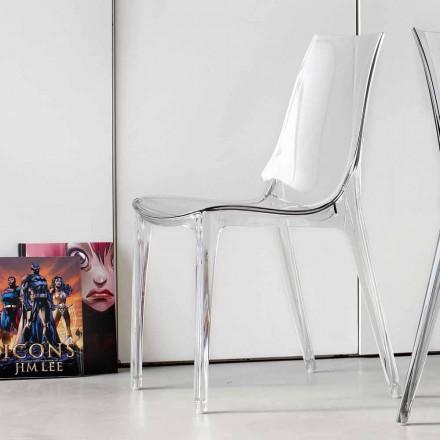 Scaun de design modern, complet în policarbonat - Gilda