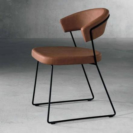 Design scaun din metal și țesături produse în Italia Formia