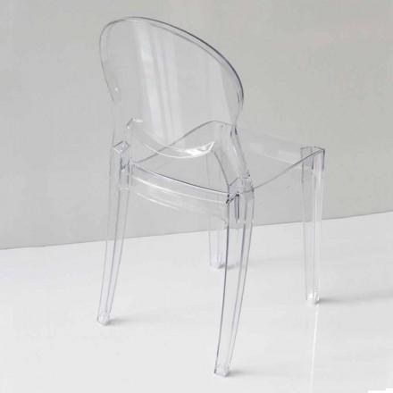 Scaun de design modern în policarbonat, în 2 culori - Dalila