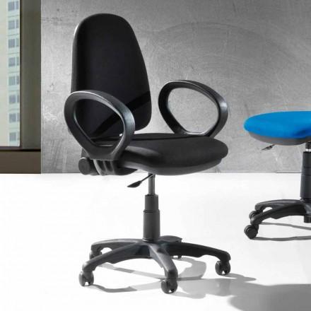 Scaun ergonomic modern rotativ Office din piele ecologică sau țesut - Calogera