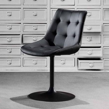 Scaun pivotant, scaun din piele ecologică cu lucrare cu smucituri - Aura