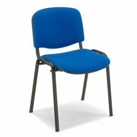 Scaun nefolosit pentru o sală de așteptare cu bază din metal negru - Carmela
