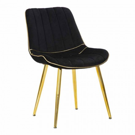 Scaun capitonat pentru amenajarea camerei de luat masa din lemn și țesătură, 2 bucăți - Kolly