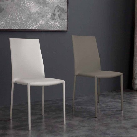 Scaun de design modern din piele ecologică Desio pentru bucătărie sau sufragerie