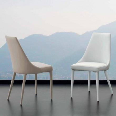 scaun de metal este acoperită în întregime din imitație de piele Nepitella