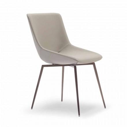Scaun de luat masa modern cu piele Made in Italy - Bonaldo Artika