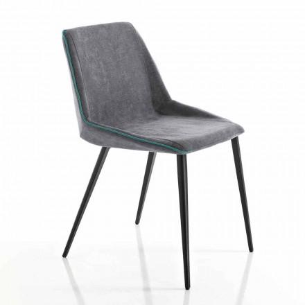 Scaun din țesături pentru sufragerie și picioare pentru picioare din Italia, Oriella