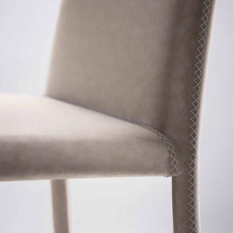 Scaun modern de locuit din imitație de piele fabricat în Italia, Gazzola
