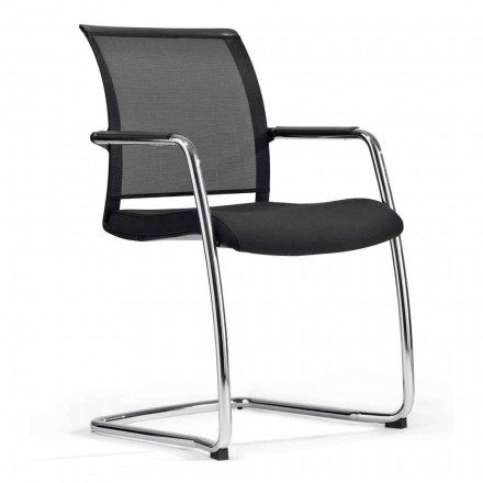 Scaun pentru sala de congrese sau pentru sala de întâlniri în tehnorete și țesături - Vespasiano