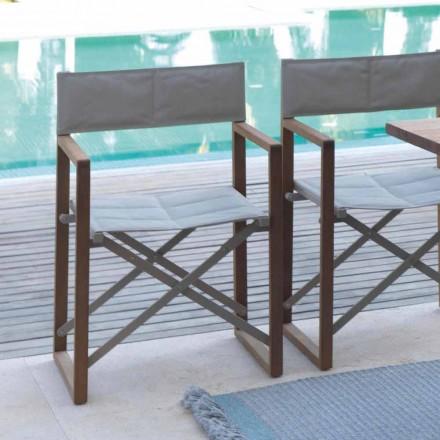 Scaun reglabil pentru exterior în mahon și Podul Textilene