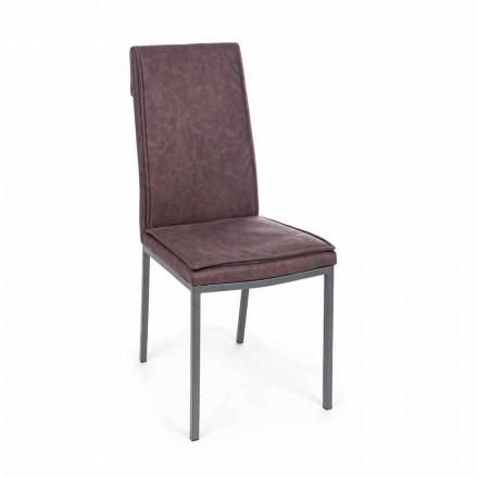 Scaun tapițat în piele cu efect vintage 4 piese Homemotion - Irama
