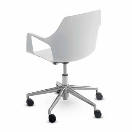 Scaun de birou din aluminiu și polipropilenă Fabricat în Italia, 2 piese - Charis