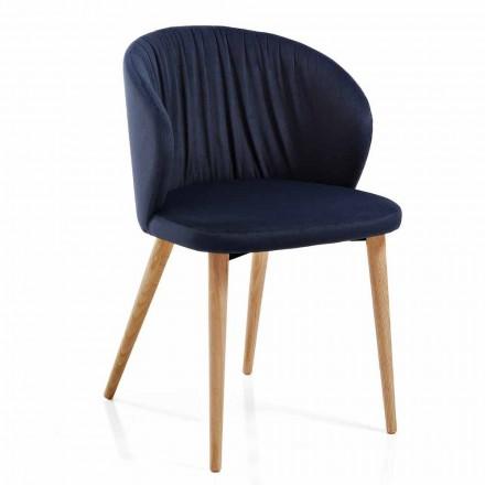 Scaune de sufragerie din țesătură Design modern elegant 2 piese - Reginaldo