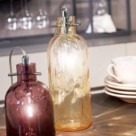 Selene Bossa Nova masă lampă Ø10 H 26cm din chihlimbar de sticlă suflată