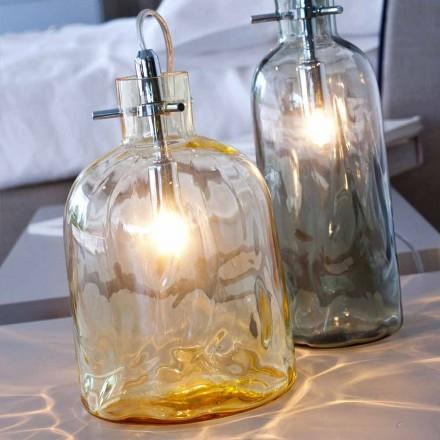 Selene Bossa Nova masă lampă Ø15 H 21cm din chihlimbar de sticlă suflată