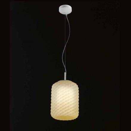 Selene Domino pandantiv lampa floare O21 H 27/140 cm sticlă