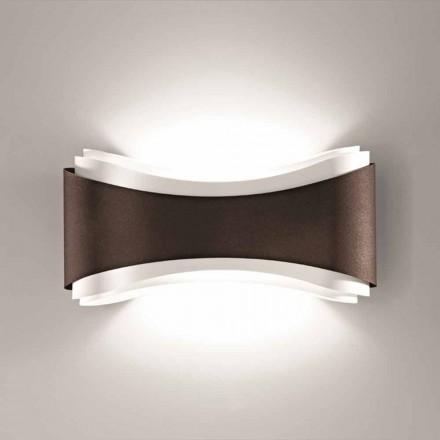lampa de perete Selene Ionica realizate în Italia, 40x12H20cm, oțel și sticlă