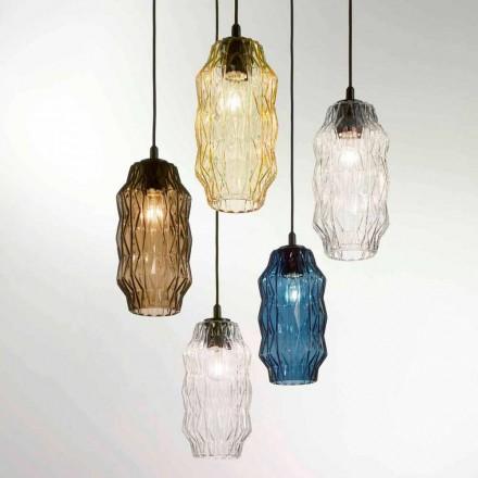Selene Origami pandantiv lampa sticla suflata O16 H 30 / 140cm