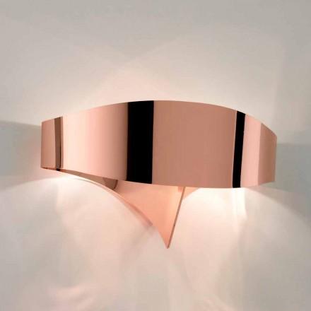 lumina de perete Selene Shield design modern galvanic, realizate în Italia