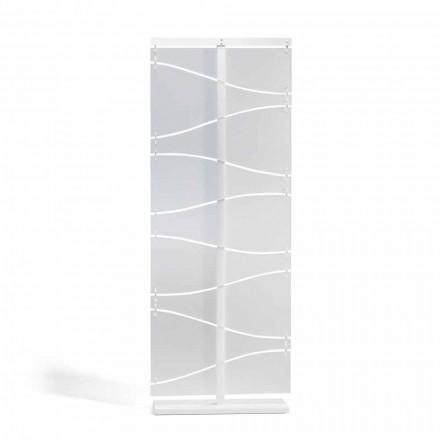 Booth design modern în alb satin metacrilat Mara