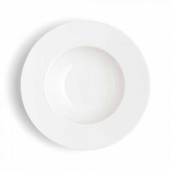 Serviciul 24 Plăci de cină albe moderne și 12 cupe de porțelan - Monaco