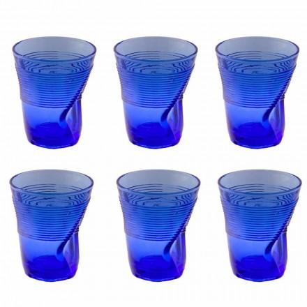 Serviciu de ochelari de apă colorate 12 piese Design particular - Sarabi