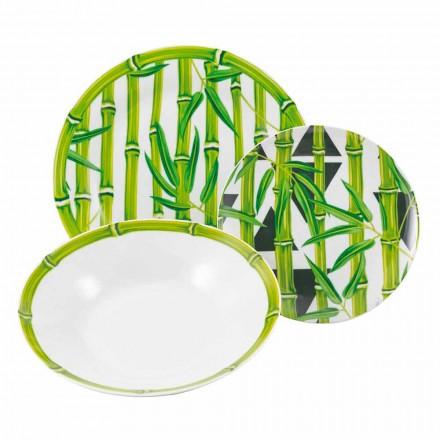 Serviciu complet Vase de porțelan moderne de colorat din bambus 18 bucăți - tije