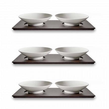 Cupe mici Serviciu cu tavă din lemn Design elegant și modern 9 piese - Flavia