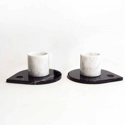Serviciu de cafea în marmură de Carrara și Marquinia modernă Made in Italy - Garda