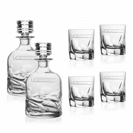 Serviciu de whisky de cristal ecologic cu logo personalizat - titan