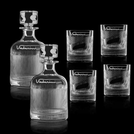 Serviciu de whisky cu cristale ecologice Personalizabil cu logo, 6 bucăți - tactil