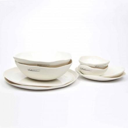 Serviciu de lux de 24 de bucăți de porțelan alb de design - Arciregale