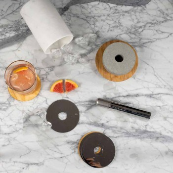 Accesorii aperitive pentru cocktailuri din marmură, lemn, oțel - normand