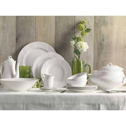 Set de 27 de plăci de design elegante din porțelan alb - Gimignano