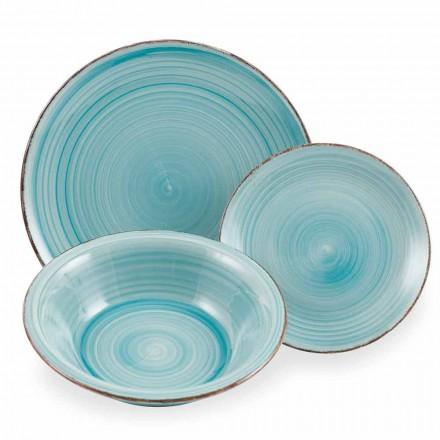 Set de veselă colorat set de tacâmuri albastru colorat 18 bucăți - Abruzzo4