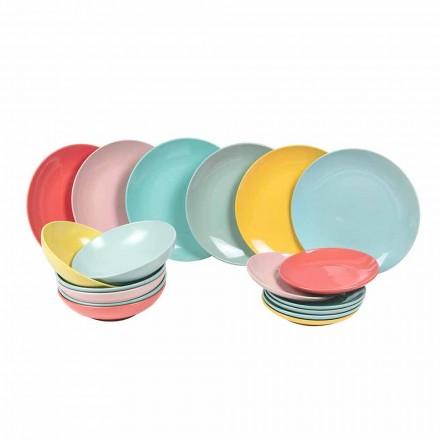 Dinnerware Set Articole de masă moderne colorate din 18 piese - Miami