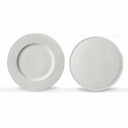 Gourmet Design servind feluri de mâncare în porțelan alb 2 bucăți - Flavia