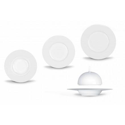 Set de cină modernă și elegantă din porțelan 24 bucăți - telescop