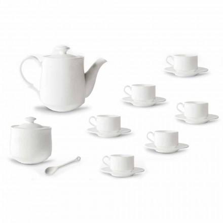 Ceașcă de cafea Set în design portelanat alb, ambalabil 15 piese - Samantha