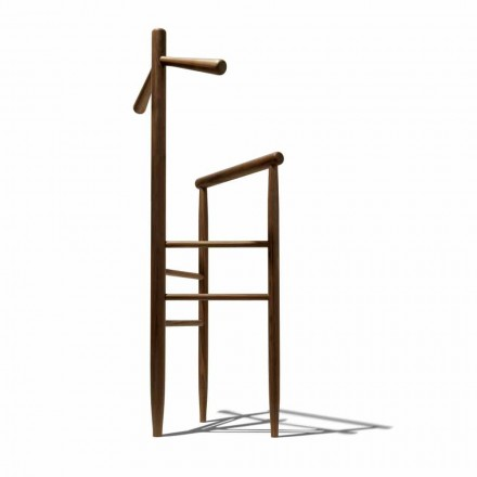 Stand modern pentru valet din nuc solid sau cenușă solidă Made in Italy - Kora