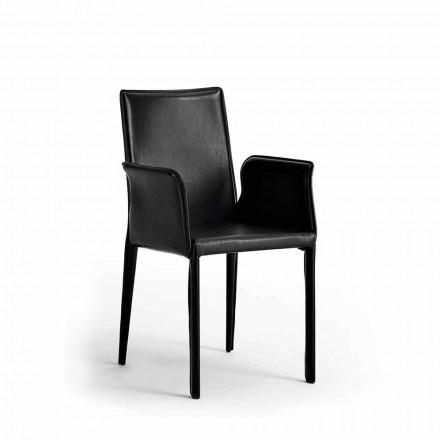 Scaun cu structură din oțel acoperită din piele - Jolie Design Modern